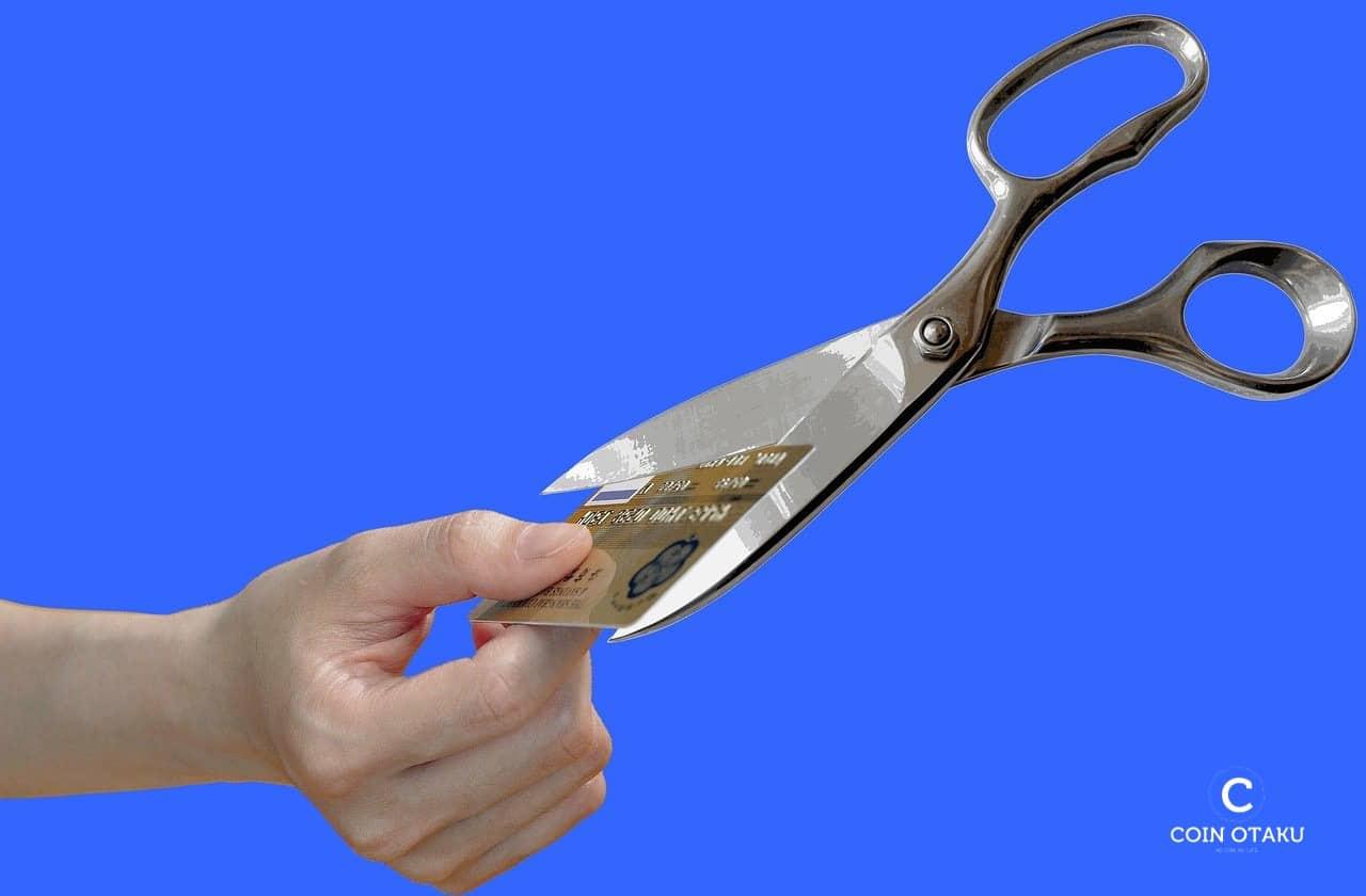 仮想通貨デビットカードが利用不可能に